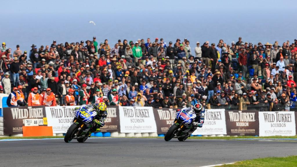 Jorge Lorenzo, Valentino Rossi, Movistar Yamaha MotoGP, AUS RACE