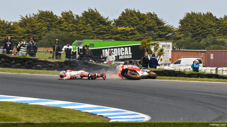 Hari Yang Kurang Baik Bagi Repsol Honda di Philip Island