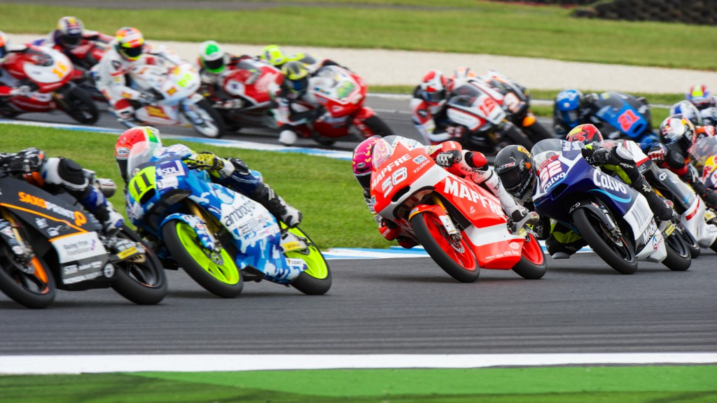 Moto3 Race start, AUS RACE