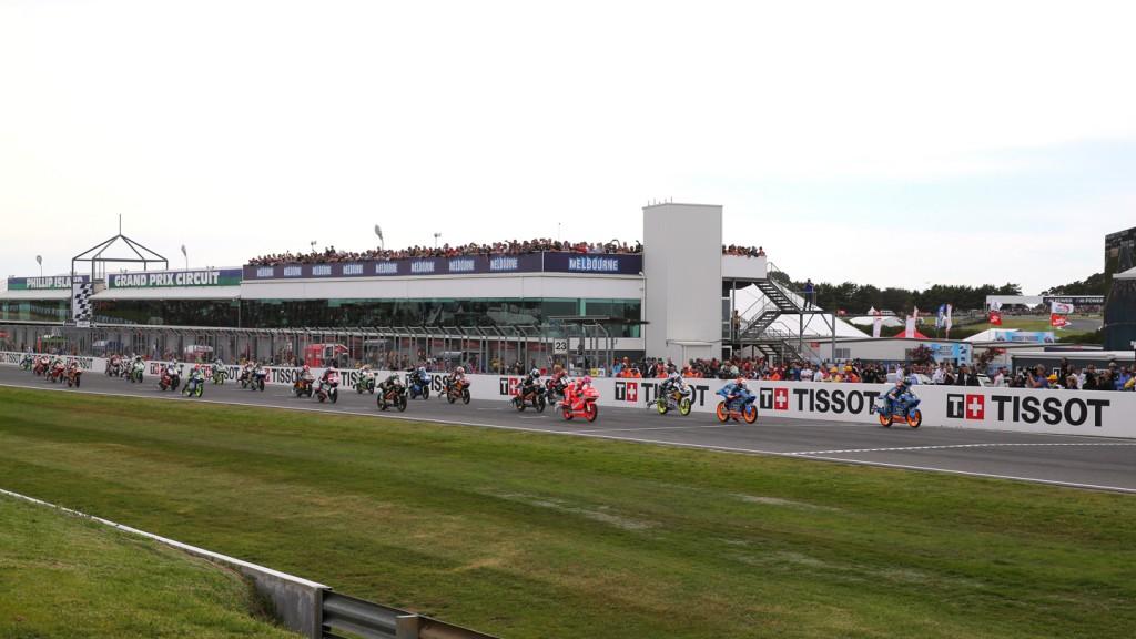 Moto3 Race start, AUS RACE