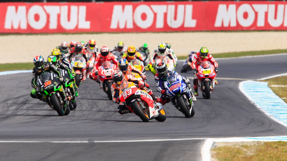motogp.com · MotoGP Race start, AUS RACE
