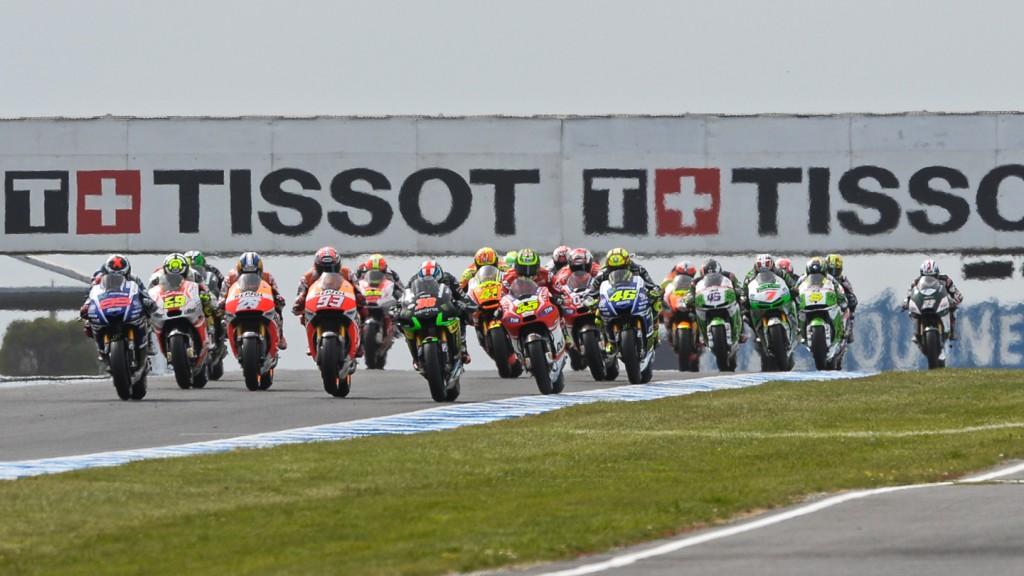 MotoGP Race Start, AUS RACE