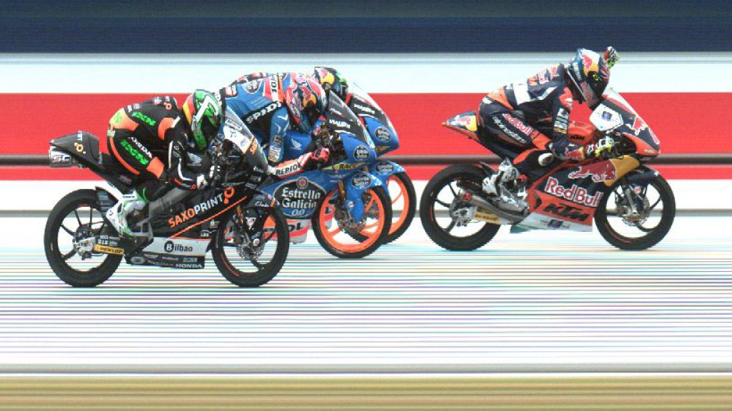 Photo finish Moto3, AUS RACE