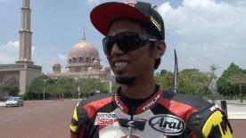 Sepang 2014 - Moto2 - #RideMalaysia - Interview - Azlan Shah