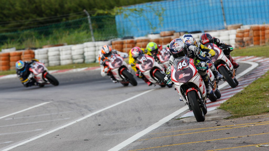 Mini Bikes Race at the Sepang International Go-Kart Circuit