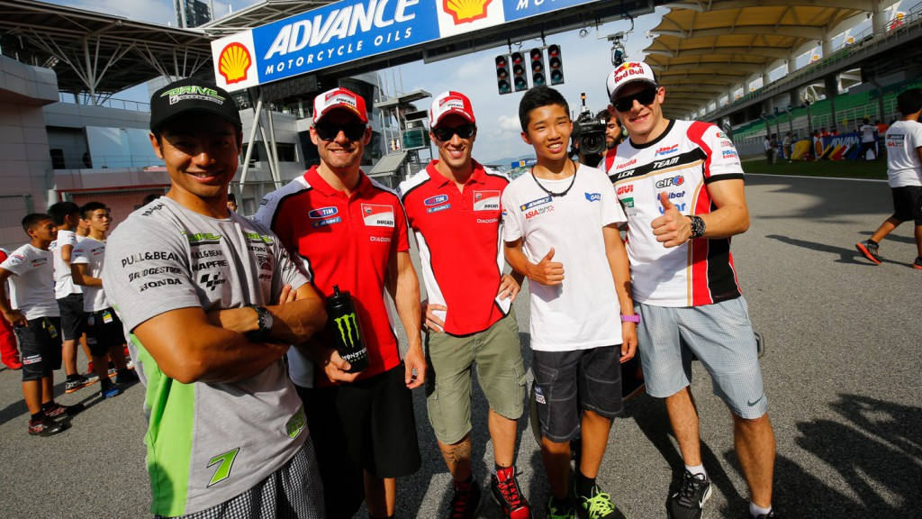 MotoGP riders with the SAATC
