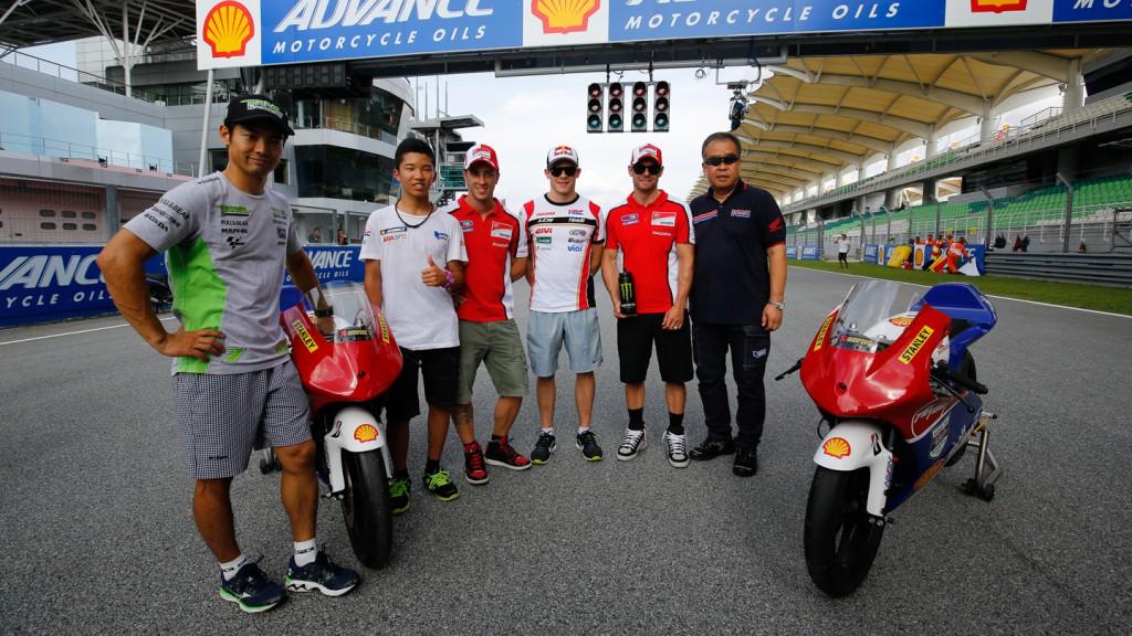 MotoGP riders with the SAATC
