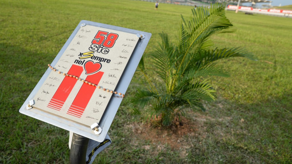 Marco Simoncelli Tribute Sepang International Circuit