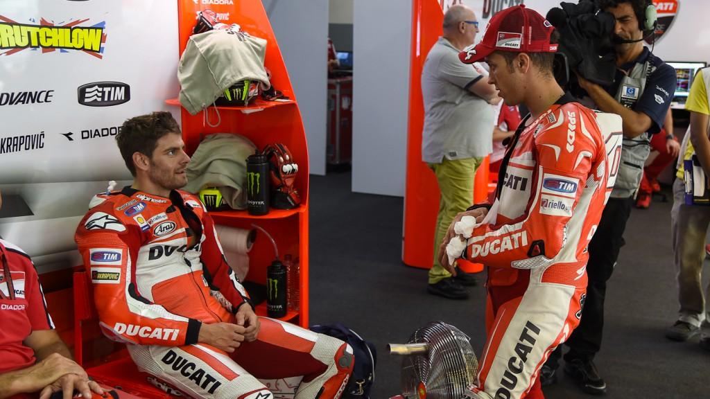 Cal Crutchlow, Andrea Dovizioso, Ducati Team, MAL FP2