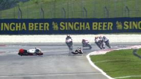 Sepang 2014 - Moto3 - FP2 - Action - Luca Grünwald - Crash