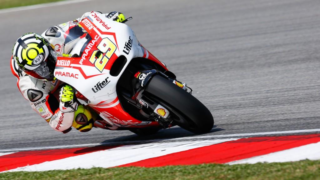 Andrea Iannone, Pramac Racing, MAL FP1
