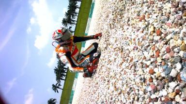 Sepang 2014 - MotoGP - FP4 - Action - Marc Marquez - Crash