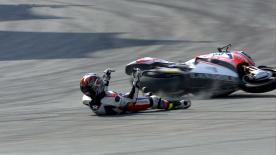 Sepang 2014 - Moto2 - QP - Action - Thitipong Warokorn - Crash