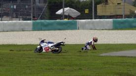 Sepang 2014 - Moto3 - QP - Action - Zulfahmi Khairuddin - Crash