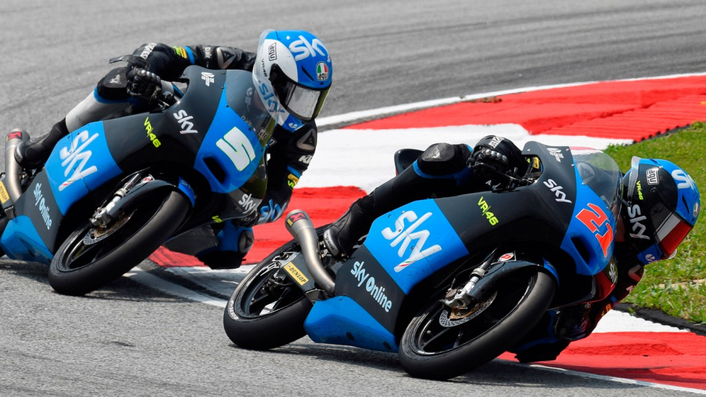 Francesco Bagnaia, Romano Fenati, SKY Racing Team  VR46, MAL RACE