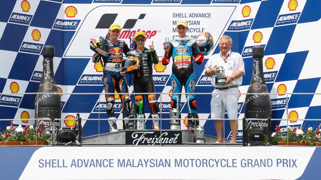 Podium Moto3, MAL RACE
