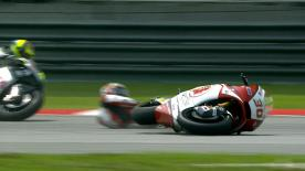 Sepang 2014 - Moto2 - RACE - Action - Takaaki Nakagami - Crash