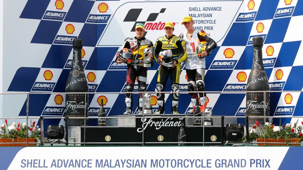Moto2 Podium, MAL RACE