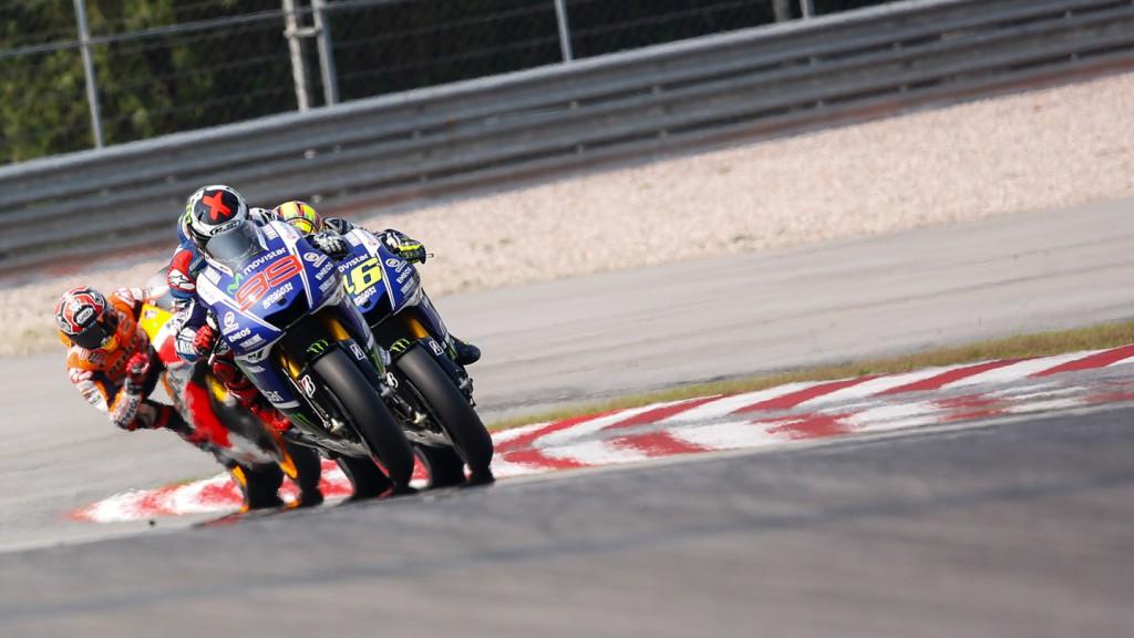 Jorge Lorenzo, Valentino Rossi, Marc Marquez, Movistar Yamaha MotoGP, Repsol Honda Team, MAL RACE