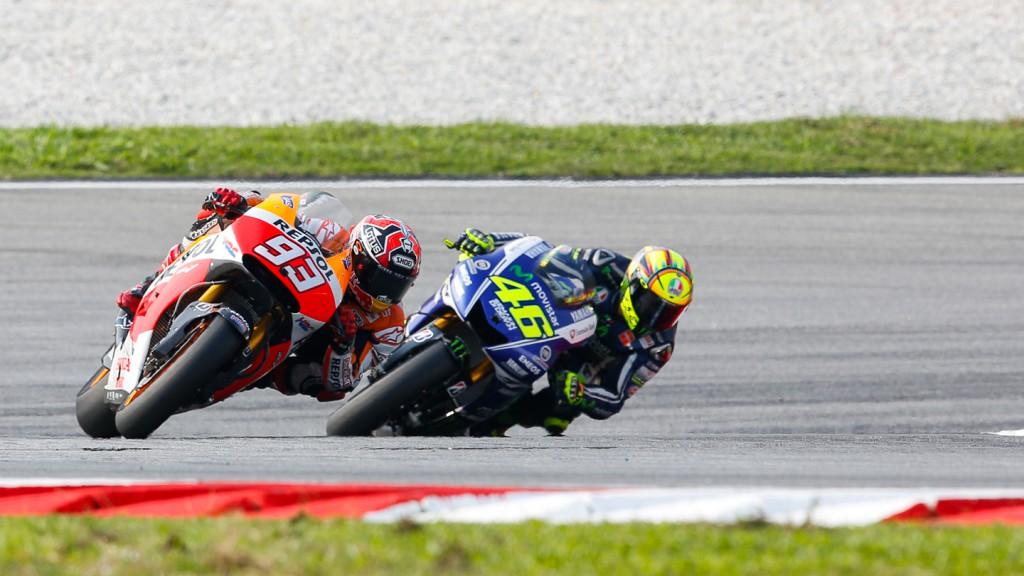 Marc Marquez, Valentino Rossi, Repsol Honda Team,  Movistar Yamaha MotoGP, MAL RACE