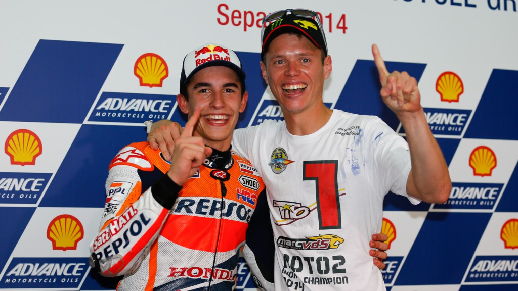 Marc Marquez, Esteve Rabat, Repsol Honda Team, Marc VDS Racing Team, MAL RACE