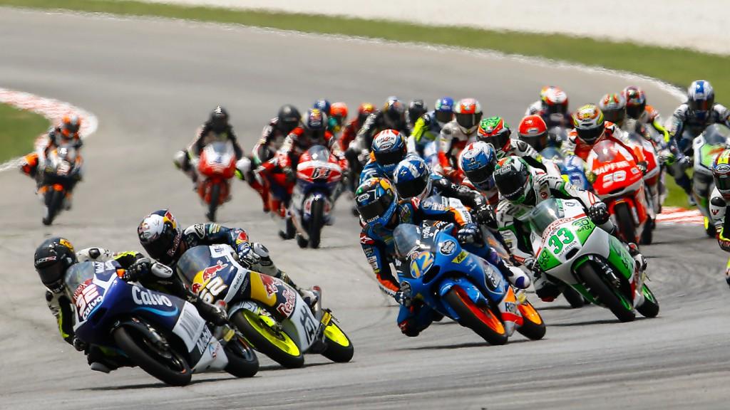 Moto3 race start, MAL RACE