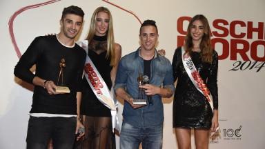 Andrea Iannone & Andrea Dovizioso at Moto Sprint Caschi d'Oro awards