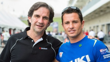 Davide Brivio & Randy De Puniet, Suzuki MotoGP Test Team