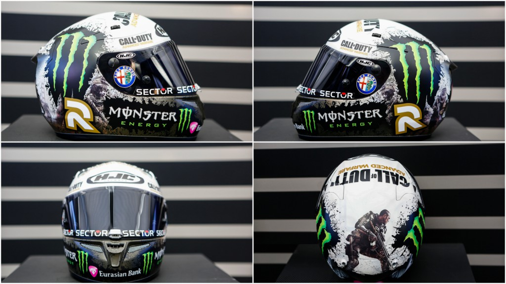 Jorge Lorenzo's new helmet