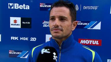 Suzuki's De Puniet happy to be back on track during a race weekend