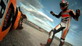 Valencia 2014 - MotoGP - Q2 - Action - Marc Marquez - Crash