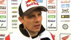Bradl on tyre problem in Q2 at final round
