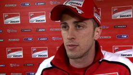 Dovizioso reviews Q2 session after qualifying on row three