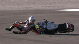 Valencia 2014 - Moto2 - QP - Action - Sandro Cortese - Crash