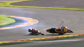 Valencia 2014 - Moto2 - QP - Action - Florian Marino - Crash