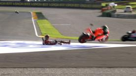 Valencia 2014 - Moto2 - QP - Action - Jordi Torres - Crash