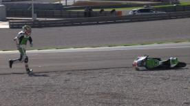 Valencia 2014 - Moto3 - QP - Action - Niccolò Antonelli - Crash