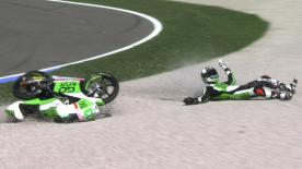 Valencia 2014 - Moto3 - QP - Action - Enea Bastianini - Crash