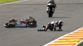 Valencia 2014 - Moto3 - QP - Action - Karel Hanika - Crash