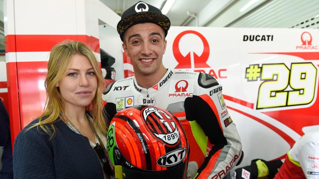 Barbara Berlusconi & Andrea Iannone, Pramac Racing, VAL Q2
