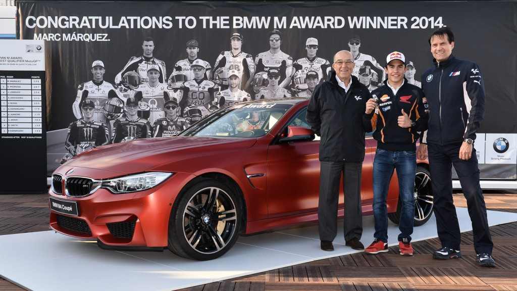 Marc Marquez presented with 2014 BWM M Award