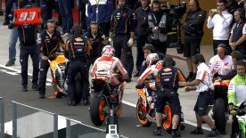 Valencia 2014 - MotoGP - WUP - Action - Marc Marquez and Dani Pedrosa