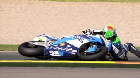 Valencia 2014 - Moto2 - RACE - Action - Franco Morbidelli - Crash