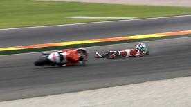 Valencia 2014 - Moto2 - WUP - Action - Johann Zarco - Crash