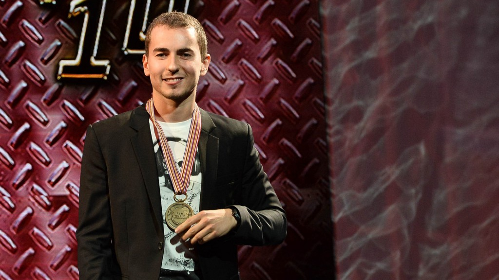 Jorge Lorenzo at 2014 MotoGP FIM Awards Ceremony