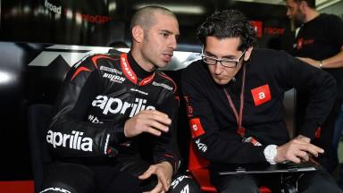 Marco Melandri, Factory Aprillia Gresini, MotoGP Valencia Test