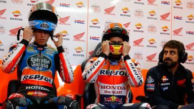 Alex Marquez & Marc Marquez, MotoGP Valencia Test