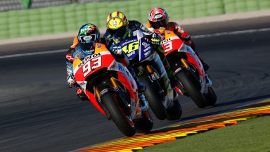 Alex Marquez, Valentino Rossi & Marc Marquez, MotoGP Valencia Test