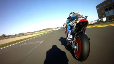Following Alex Marquez on his first MotoGP™ outing