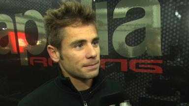 Bautista on learning with Aprilia in wet conditions